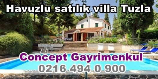 Havuzlu satılık villa Tuzlada