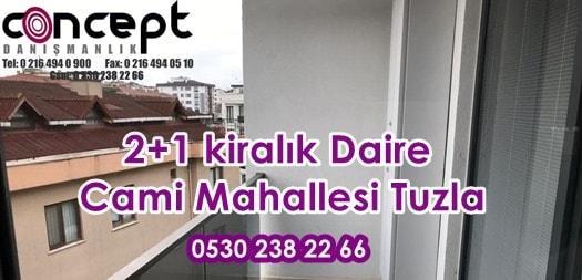 2+1 kiralık Daire Cami Mahallesi Tuzla