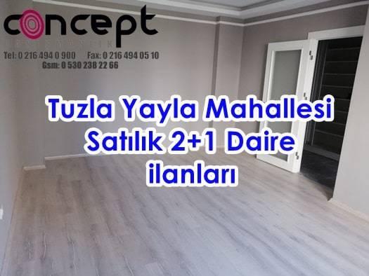 Yayla Mahallesi 2+1 satılık daire Tuzla